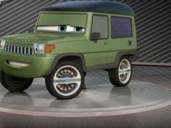 Cars 2: Showroom Turntable Miles Axlerod